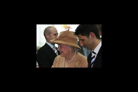 The Queen attending the launch of Swansea Leisure Centre
